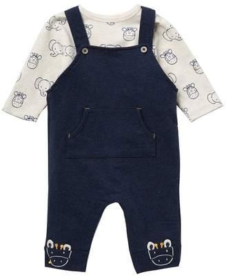 Little Me Safari Overall Set (Baby Boys)