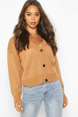 boohoo Button Through Drop Shoulder Cardigan