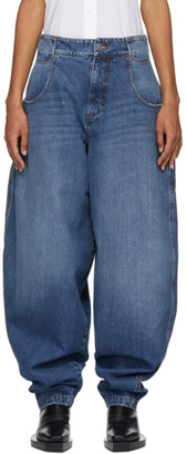 Telfar Blue Baggy Jeans