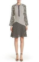 Etro Women's Polka Dot Print Silk Crepe De Chine Flutter Dress