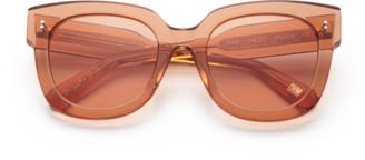 Chimi #008 Clear Sunglasses in Peach