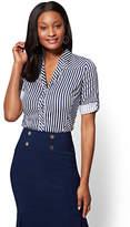 New York & Co. 7th Avenue SecretSnap Madison Stretch Shirt - Stripe
