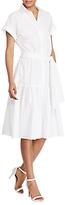 Lauren Ralph Lauren Fit-And-Flare Cotton Dress, White