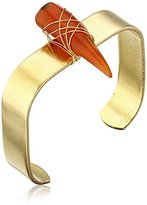 Yochi Carnelian Horn Cuff Bracelet