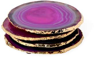 Jonathan Adler Pink and Gold Agate Coasters