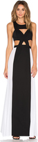 BCBGMAXAZRIA Cut Out Gown