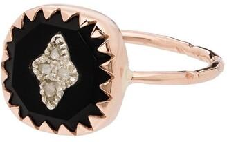 Pascale Monvoisin 9K rose gold Pierrot diamond ring