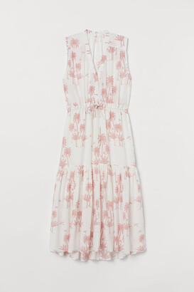H&M Cotton-blend Dress - White