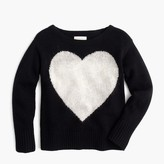 J.Crew Girls' wool heart popover sweater