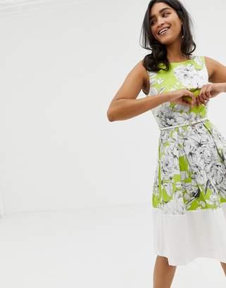 Closet London Closet Floral Belted Border Dress