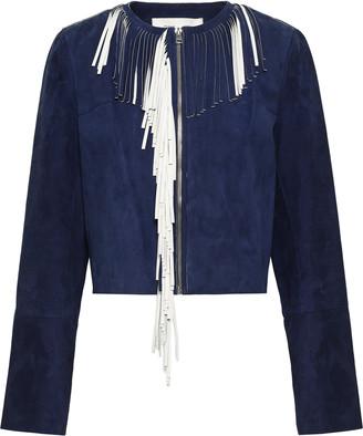 Diane von Furstenberg Fringed Leather Jacket