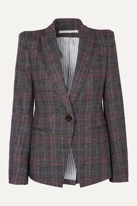 Veronica Beard Brock Dickey Checked Wool-blend Blazer - Gray