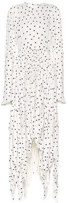 KHAITE Greta printed crepe dress