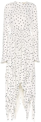 KHAITE The Greta printed crepe dress