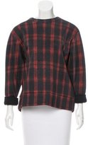Torn By Ronny Kobo Plaid Long Sleeve Top