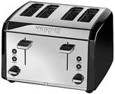 Waring 4 Slice Stainless Steel Toaster - Black