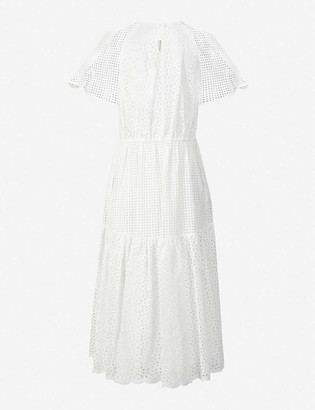 Diane von Furstenberg Marlowe broderie cotton midi dress