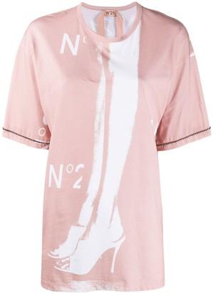 No.21 logo-print stud-embellished T-shirt