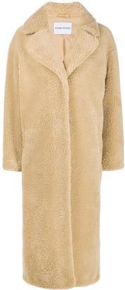 Stand Studio Faux Fur Long-Length Coat