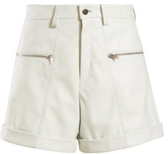 Isabel Marant Cedar Leather Shorts - Womens - White