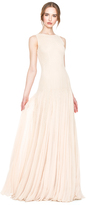 Alice + Olivia Saori Embellished Gown With Godets