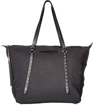 Rebecca Minkoff Bowie Nylon Tote (Black) Handbags