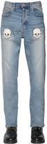 Lost Daze Ca Embroidered Loose Skinny Denim Jeans