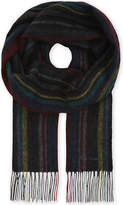 Paul Smith College striped wool scarf