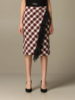 Boutique Moschino Skirt Moschino Boutique Skirt In Check Wool Blend