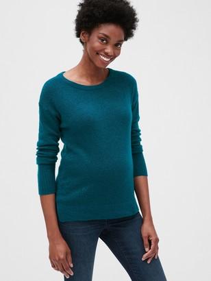 Gap Maternity Side-Slit Boatneck Sweater Tunic