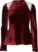Antonio Berardi Velvet Tie Shoulder Top