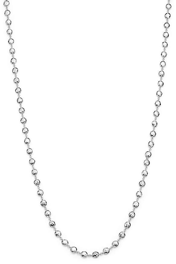 """Ippolita Glamazon® Sterling Silver Flat Hammered Bead Necklace, 40"""""""