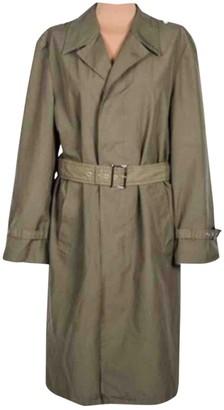 Pinko Khaki Cotton Trench Coat for Women