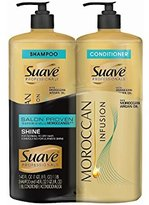 Suave Professionals Moroccan Infusion Shampoo and Conditioner 2 Pack Pump 40 Fluid Oz Each
