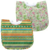 I Play Green Sprouts by 2-pk. Pullover Paisley & Striped Waterproof Bibs - Baby