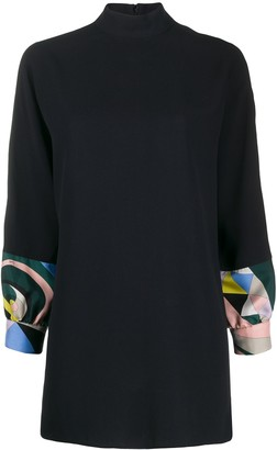 Emilio Pucci High-Neck Tunic Top