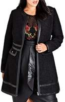City Chic Plus Size Women's Boucle Car Coat