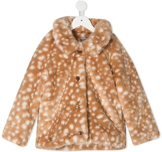 Emile et Ida Dotted Faux-Fur Jacket