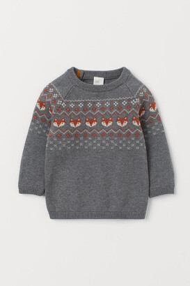 H&M Jacquard-knit cotton jumper
