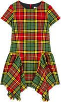 Junior Gaultier Tartan print dress