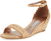 Tabitha Simmons Juniper Scalloped Cork Wedge Sandal, Natural