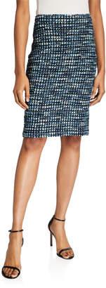 St. John Martinique Tweed Knit Pencil Skirt