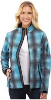 Roper Turquoise Optical Print Softshell Jacket