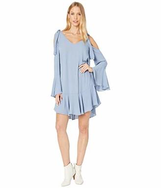 BCBGMAXAZRIA Azria Women's Ellyson Cold-Shoulder A-Line Dress