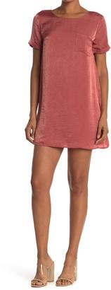 Dee Elly Satin Pocket T-Shirt Dress