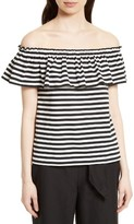 Kate Spade Women's Stripe Off The Shoulder Top