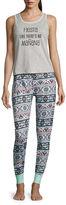 Asstd National Brand Wallflower Pant Pajama Set-Juniors