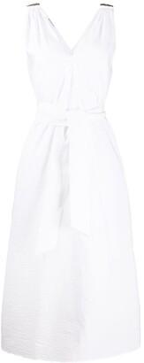Brunello Cucinelli Waist-Tied Flared Dress