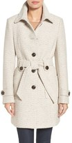 Gallery Belted Tweed Coat (Regular & Petite)