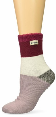 Dearfoams Women's Multi Colored Cabin Sock Slipper